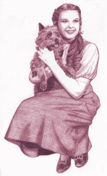THE WIZARD OF OZ: DOROTHY GALE and TOTO, TOO by Jerome-K-Moore
