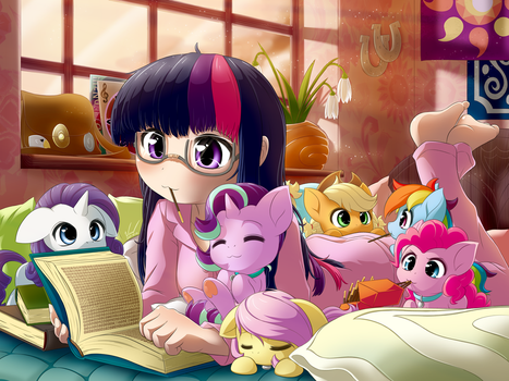 Reading with Twilight Sparkle by SymbianL