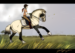 Dressage Lesson for Rida by GabiHorseArt98
