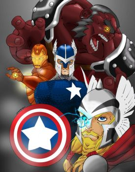 BA: Medieval Avengers by HASHbrown-TM
