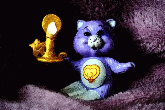 Evening Tale with Bright Heart Raccoon (CareBears) by crapopabo