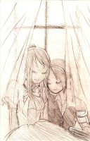 Ed+Winry bathed in sunlight by pstaight