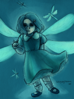 The Girl with the Dragonfly Hairpin by wilyskytreader