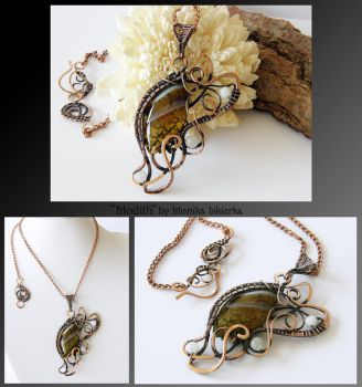 Modith- wire wrapped copper necklace by mea00