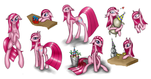 Pinkamena colored sketches by ShurikART