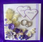 Quilled Wedding Card by JensQuilling