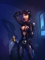 Catwoman  colored by cehnot