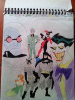 Batman and his Rogues Gallery by Panda32510