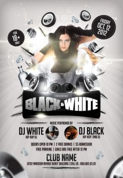 Black and White Flyer Template by whitescale