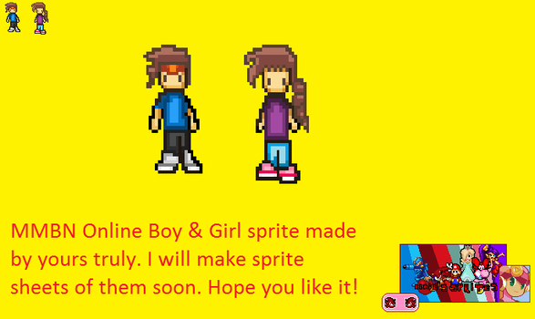 MMBN online boy and girl by TheRedThunderX