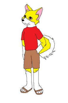Cam's Anthro H-C Mix Puppy by MorganLing