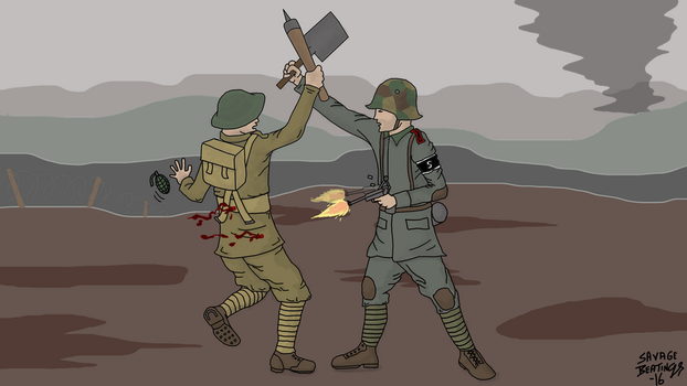 A disagreement in No Man's Land by SavageBeatings