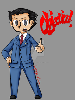 Phoenix Wright tee by puppyloverpearl