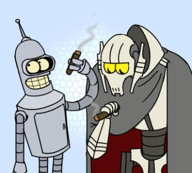 Bender Meets Grievous by r2griff2