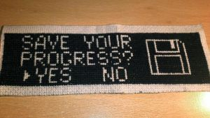 Cross Stitch Gamer Bookmark by passionfyre