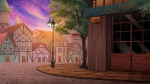 the corner street -  Visual Novel BG by gin-1994