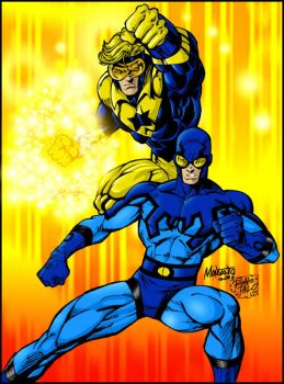 Booster Gold and Blue Beetle by RapidBlade