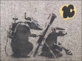 Banksy's Rats by rochal