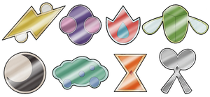 Indaya Gym Badges by Angelis21