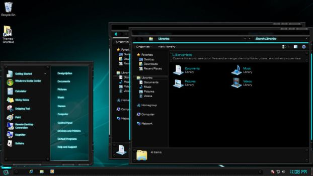 Tech-Light Windows 7 Theme by Designfjotten
