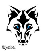 Tribal Wolf 2 by Majestic2966
