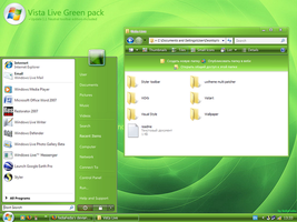 Vista Live Green pack for XP by fediaFedia