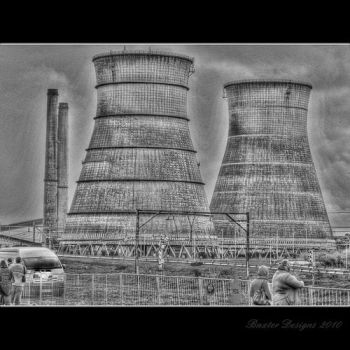 Athlone towers HDR BW by Ravynlight24