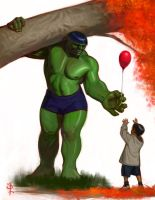 A softer Hulk by FUNKYMONKEY1945