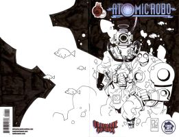 the diver and atomic robo by boston-joe