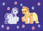 Rarity and Applejack by NormaLeeInsane