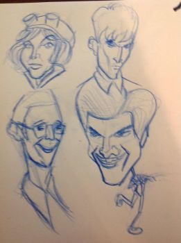 Gotham caricatures, by Silvaks