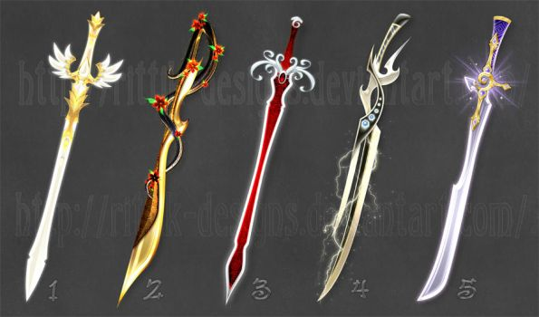 Swords adopts 8 (CLOSED) by Rittik-Designs