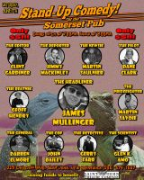 Stand-Up Comedy at the Somerset Pub poster by glenkamo