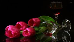 9964-pink-tulips-and-red-wine-1920x1080-flower-wal by cheyanne-mia2