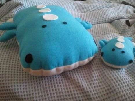 Wailord and Wailord Jr by MsLolitaPsychotic