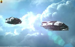 Andromeda Initiative Shuttles by Euderion