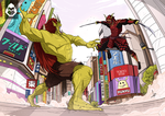 Battle in Tokyo Commission Work by adhytcadelic