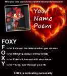My Name Poem by FoxyPirate56912