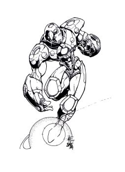 Ironman by Adam Inked by Medic-911