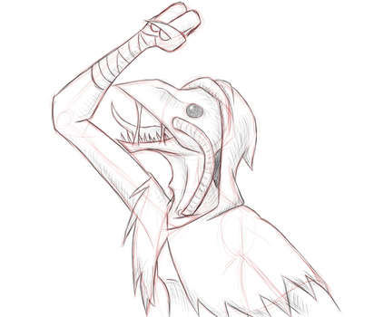 Angry Alien-Plague Doctor thing by BashfulSoul