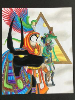Egyptian Gods by nitrapalo