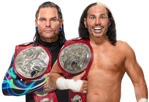 The Hardy Boyz RAW Tag Team Champions 2017 by Nibble-T