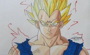 Majin Vegeta close up by gokujr96