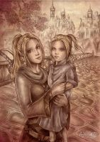 Nyacelil and daughter by Agregor