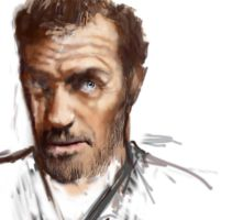 hugh laurie-sketch by krzycha