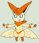 Comm: Victini by TehShinySylveon
