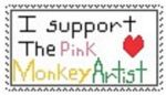 {Gift} ThePinkMonkeyArtist Support stamp by MarioSonicPeace