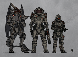 Tenebrean advanced infantry by Athalai-Haust