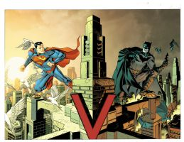 Batman and Superman variant covers by Devilpig