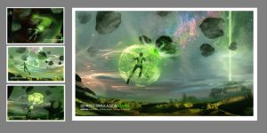 Green Lantern Online Game Art by prmn